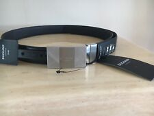 BNWT Duchamp Cintura in Pelle con Fibbia branding RRP £ 75 Authentic Medium 34 Girovita