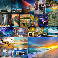DIY Oil Painting by Numbers Scenery Paint Drawing Canvas for Adults Kid Beginner