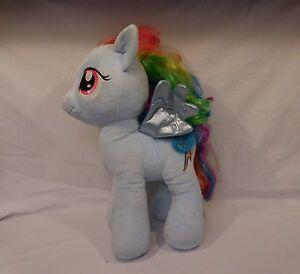 "Build A Bear My Little Pony Stuffed Plush Princess Rainbow Dash Blue Pegasus 16"""