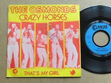 "DISQUE 45T DE THE OSMONDS  "" CRAZY HORSES """