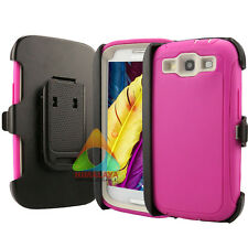 For Samsung Galaxy S3 Case (Clip fits Otterbox Defender) Screen Protector A