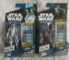 """Star Wars The Clone Wars """"Captain Rex CW12"""" Figure and Cad Bane Bounty Hunter"""