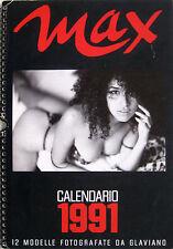 MAX Calendario 1991 12 modelle fotografate da Marco Glaviano
