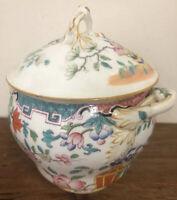 Sucrier Pot Porcelaine XIXeme Allemande Japon Chine China Ancien