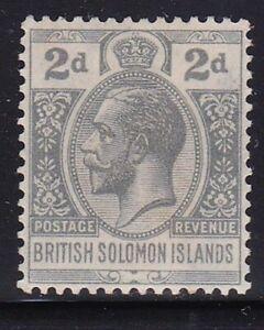 Album Treasures Solomon Islands Scott # 46  2p  George V  Mint LH