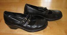 Dansko Womens Black Leather Mary Jane Shoe Heels 9.5