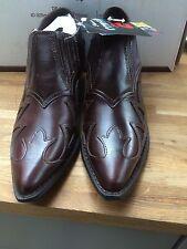 Durango Cowgirl Western Ladies Mid High Heel Shoe Brown (RD1410) UK Size 6.5