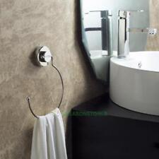 Ring Shape Stainless Steel Vacuum Suction Cup Bathroom Towel Shelf Bar Rack SE#N