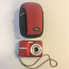 Samsung Digimax S730 7.2MP Digital Camera - Red - With Case