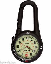 Black Clip-on Carabiner FOB Watch Doctors Paramedics Nurses Chefs & Sports