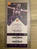 Kobe Bryant Final Season NBA LA Lakers vs Kings 1/20/2016 Season Ticket Stub