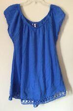 d09f1e0105 VICTORIA'S SECRET SWIM DRESS COVER UP XSmall OVERSIZED BLUE NWT (F2057)