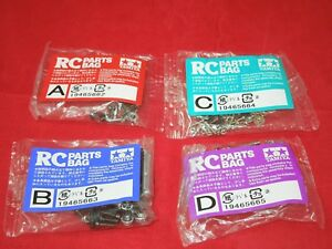 TAMIYA FROG SCREW PARTS BAG A +  B + C + D  NEW HARDWARE PARTS SCREWS NUTS