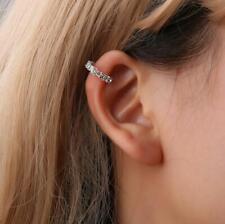 1x Ear Cuff Crystal Rhinestone Wrap Cartilage Clip On Stud Earring Random Color
