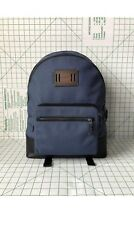 Coach F27609 Men's CORDURA West Canvas & Leather Backpack in Denim