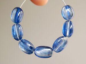 1strand blue kyanite plain oval sized 10 by 14mm
