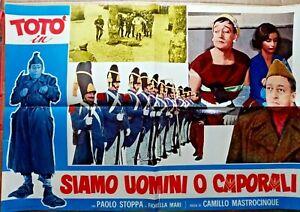 R@RIT@'LOCANDINA FILM 46 X 67-ANNI 50-TOTO' SIAMO UOMINI O CAPORALI-RIF.N.20