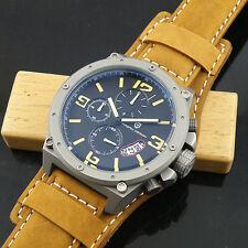 Pagani design 50mm gold marks sandblast chronograph black dial mens quartz watch