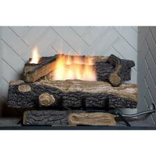 Oakwood Natural Gas Fireplace Insert Faux Logs Ventless Thermostat 24 in. Heater