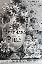 Beecham's Pills FEMALE MEDICINE Advertising Beecham Drugs 1886 Matted Print Ad