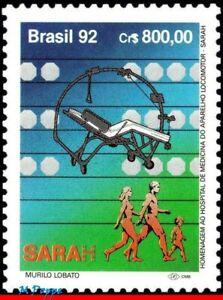 2390 BRAZIL 1992 HOSPITAL OF MEDICINE & ORTHOPEDICS, SARAH, HEALTH, MI# 2499 MNH