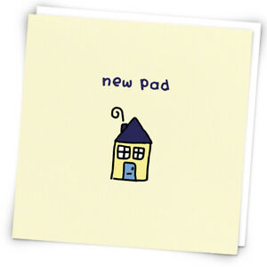 New Pad, Greetings Card By Redback, Picture Of House, Home