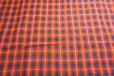RED BLACK WHITE PLAID STRIPE LINEN LIKE COTTON FABRIC~SEW-RAG QUILT BLANKET