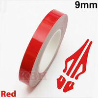 "9mm Self Adhesive Coachline Pin Stripe Vinyl Tape Craft Decal Sticker 3/8"" RED"