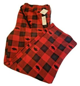 Croft & Barrow Men's Microfleece Red Buffalo Plaid Sleep Pants Size 3XLT - NWT