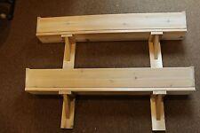 """2 - 48"""" CEDAR WOOD SLANT FRONT WINDOW FLOWER BOX BRACKETS PLANTER CORBEL GARDEN"""