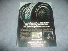 """1978 Goodyear GT Radial Vintage Ad """"Writing the Book on Street Performance"""""""