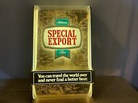 1984 Heileman's Special Export Lighted Beer Map Background Sign Man Cave Decor