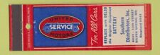Matchbook Cover - United Motors Service Delco Battery Silver Spring MD