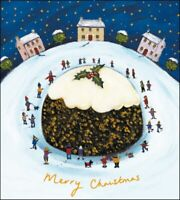 Pack of 5 Christmas Pudding Shelter & Crisis Charity Christmas Cards Cello Packs