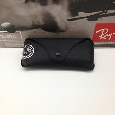 NEW Ray Ban Genuine Black Sunglasses Eyeglasses Case with Cleaning Cloth