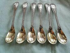 """6 Coin Silver Egg Spoons 5 3/4"""" by Bailey & Co. Philaadelphia 1848 Mono"""