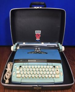 Smith Corona Coronet Automatic 12 Electric Blue 1960s Typewriter 🇺🇸100% TESTED