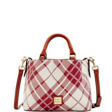 NWT Dooney & Bourke Mini Barlow Satchel Shoulder Bag in Cranberry Plaid Winter!