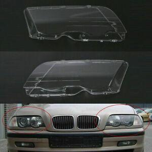 1 Pair L + R Headlight Lens Covers For BMW E46 3-Series 323i 325i 328i 4DR 98-01