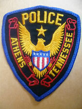 Patches: ATHENS TENNESSEE US POLICE PATCH (NEW* 10.5x9cm)