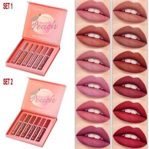 6PC/Set Long-Lasting Lip Gloss Velvet Glazed Matte Beauty Liquid Lipstick Makeup