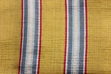 Stunning Yellow, Blue & Red French 18thC Striped Home Dec Silk Fabric c1770