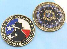 challenge coin  FBI  DOJ FEDERAL BUREAU OF INVESTIGATION Counterintelligence