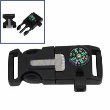 Buckle Whistle Compass Flint Fire Starter Scaper for Camping Paracord Bracelet