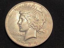 1934 D 90% Silver Peace Dollar (#181)