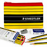 Staedtler Noris 120 - Premium Set of 12 HB + Eraser, Sharpener, and Pencil Case