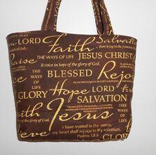 Handmade Jesus Christ Faith Believe Wisdom Tote Purse Bag