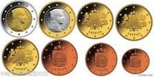 LETLAND UNC EURO SET 2014 - Serie van 8 munten 1 cent / 2 euro