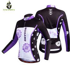 Pro Team Girl Women Long Sleeve Bike Cycling Jersey Bicycle Clothing Reflective