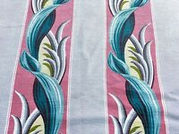 Sale Miami Beach Cabana Tropical Barkcloth Vintage Fabric Drape Curtain Art Dec0